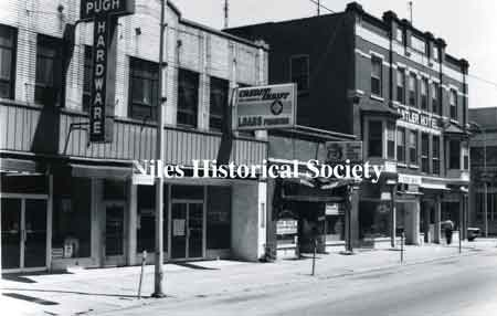 Mervyn's Jewelry and the McKinley Restaurant were earlier businesses located in the first floor shops on North Main Street side of the Antler.