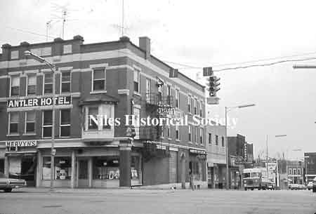 The Parkway Restaurant, Soriano's and Rice Electric were stores located on Park Avenue near the Antler.