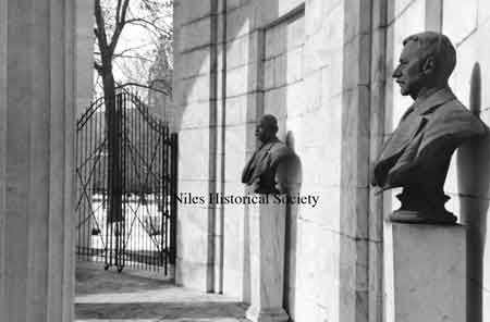 Photo of the various statues in the Court of Honor at the McKinley Memorial.