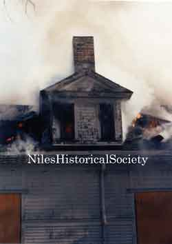 The old Administration Building burned down when juveniles set fire to it on January 29, 1972