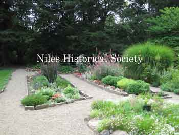 View the extensive garden areas, walkways,and main grounds.