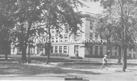 The Old Central School bell was located on the front lawn of the new McKinley High School on Church Street.