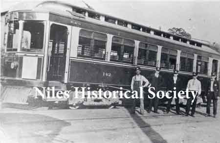 Streetcar-1907. This photo of employees of the Mahoning Valley Railway Co. was taken in Niles.