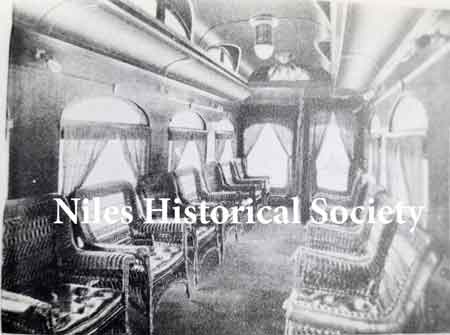 This shows the inside look of the Northern Car made by the Niles Car Co.
