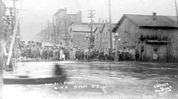 South Main Street looking north during the flood of 1913.