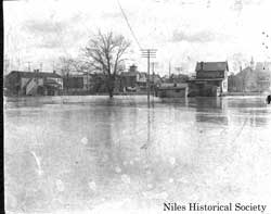 A general view of the 1913 flood.