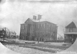 Third Street School, or Garfield School as it was known. 1913 Flood.