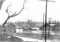 The old Russia Sheet Mill during the 1913 flood.