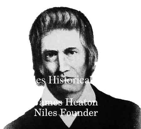 Drawing of James Heaton, founder of Niles.