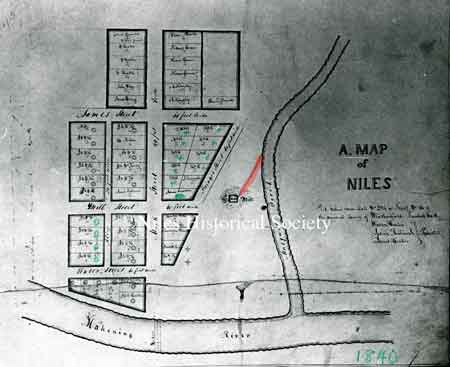 1840 Map of Niles.