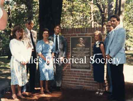 During the 1984 Sesquicentennial Celebration, a memorial plaque was dedicated in Stevens Park.