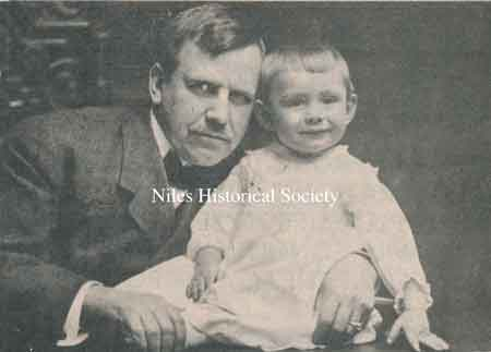 Grandfather Stevens, Harry M. Stevens, founder of the company bearing his name, is pictured here with his grandson, Dr. Harry M. Rose.