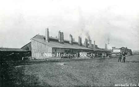 """Russia Sheet Mill"" was built on the north bank of the Mahoning River, east of the Lisbon branch of Erie RR."