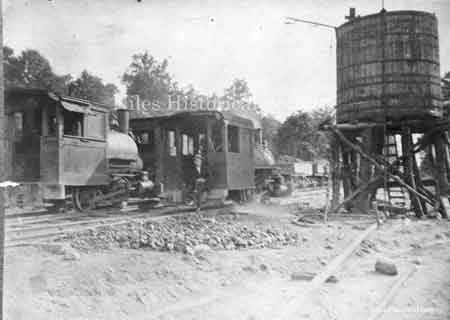 The new B&O railroad at Crow Orchard about 1902.