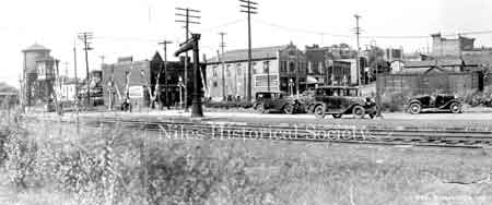 View showing the PRR crossing at South Main Street and Water Street.