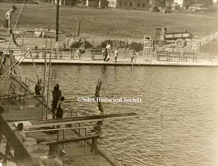 Diving boards at Waddell Pool