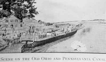 "A drawing of the Ohio - Pennsylvania canal taken from the Joseph Butler book; ""Men & Events"""