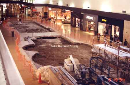 The removal of the interior fountains in the main concourse of the Eastwood Mall.