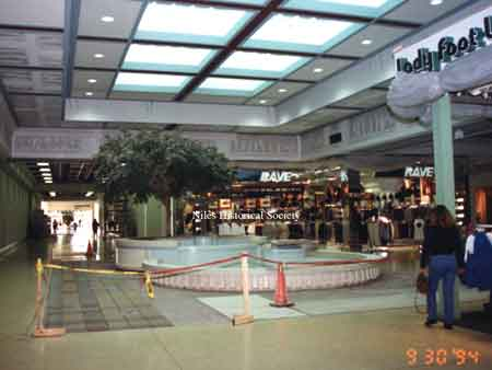 The interior of the Eastwood Mall during the complete renovation including removal of the fountains. Dated September 30, 1994