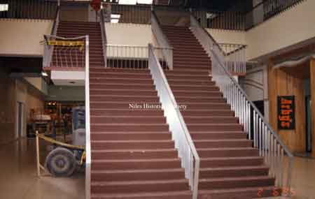 The interior staircase located in the main entrance of the Eastwood Mall during the complete renovation in the 1990's.