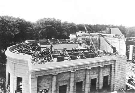 July 12, 1916 - roof girders being placed