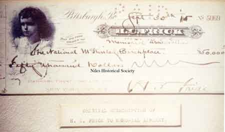 Henry Clay Frick Donation to the Libray Building Fund.