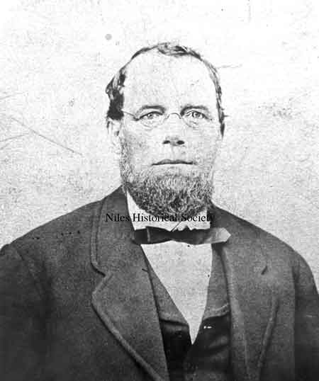 William Davis was mayor of Niles for 18 years, from 1876-1894.