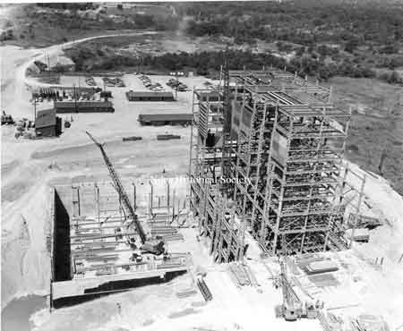 construction of the Ohio Edison Power Plant