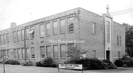 Our Lady of Mt. Carmel's first school with grades K-4 opened in 1949.