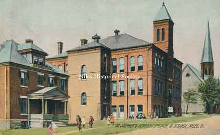 St. Stephen's Church, Academy and school in the year 1905.