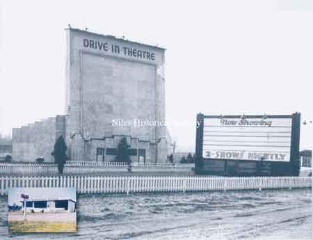 Howland Drive-In Screen and Marquee