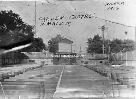The Garden Theatre was a forerunner of the modern drive-in theatre.