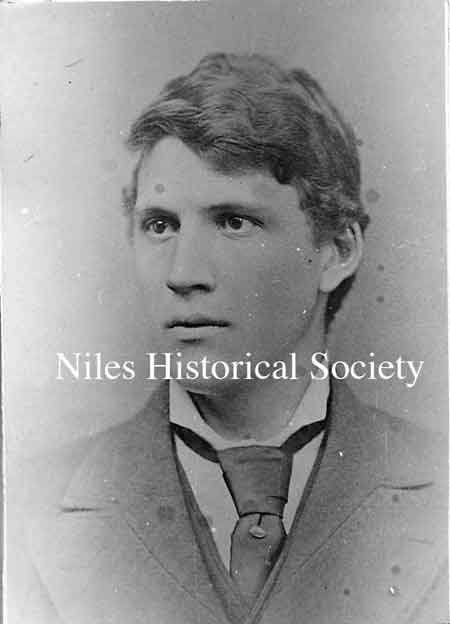 Graduation photograph of Frank Carl E. Robbins. He was the first to graduate from Niles Central High School in 1875.