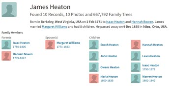 James Heaton Family Tree