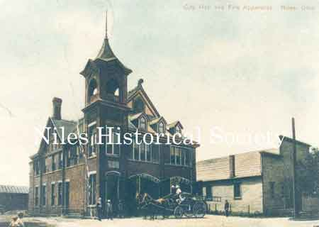 The new city building was built in 1889 at a cost of $8,500.00.