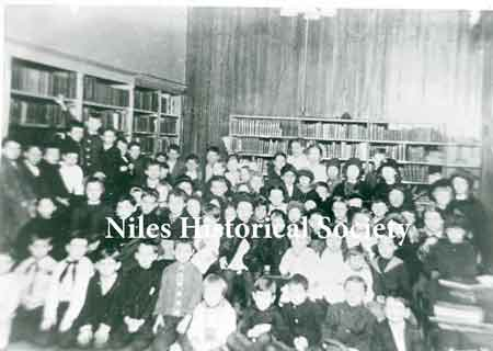 Story Hour at the old library on Furnace Street in Niles. Furnace Street is now part of State Street.