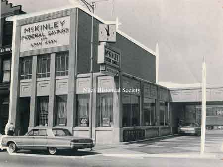 Bank with drive-thru completed in 1962.