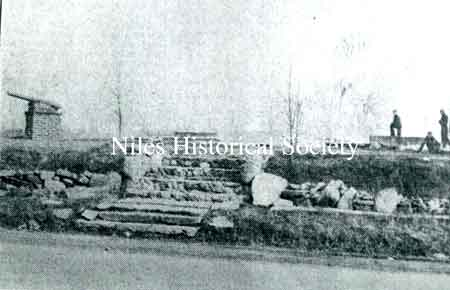 All that remained of the McKinley Birthplace in McKinley Heights after the fire on April 3, 1937.
