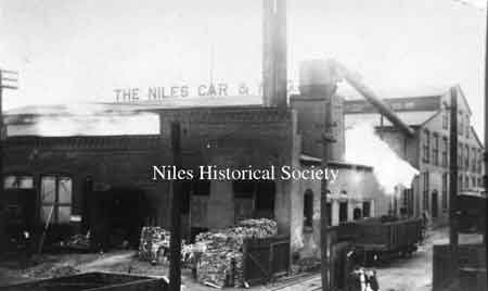 Erie Street view of the Niles Car & Manufact-uring Company built in 1901