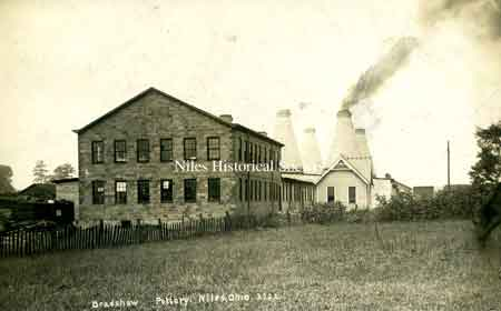 The Bradshaw Pottery Plant was built between Hunter Street and the railroad right-of-way in Roundstown.