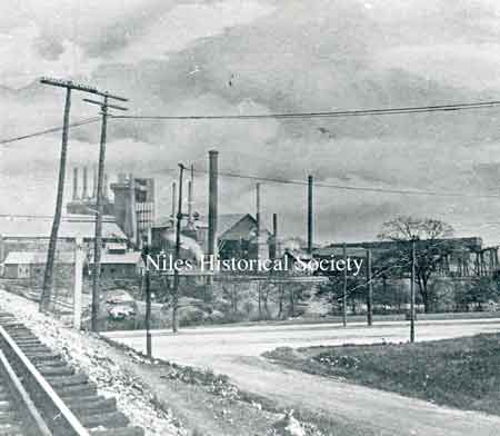 This picture shows Carnegie Steel Co. furnace as it was before being dismantled in 1925.