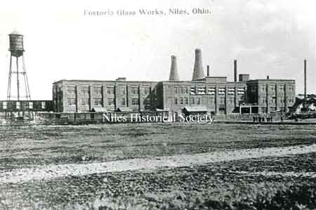 Fostoria Glass Works was constructed in 1910 by Fostoria Glass Company, many of the first employees moved here from Fostoria, Ohio.