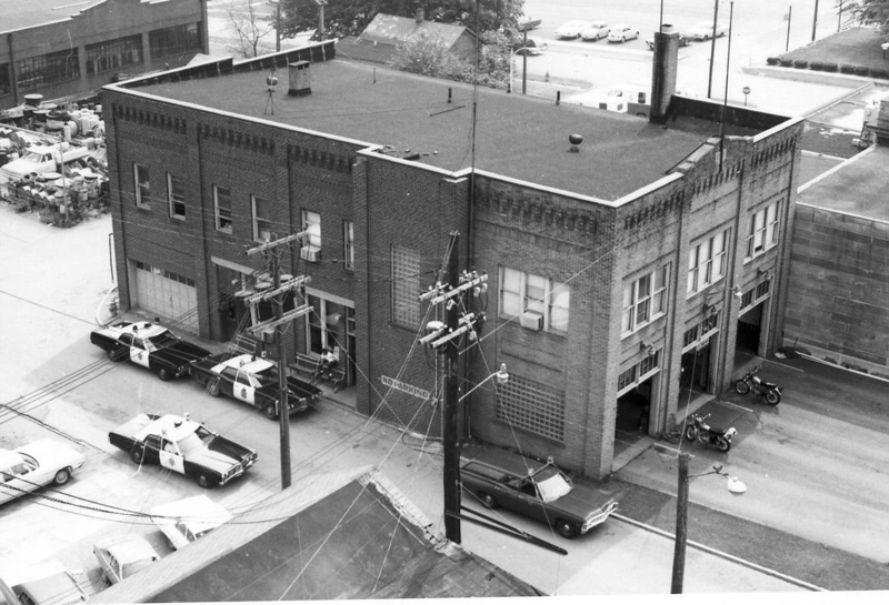 The new city administration building was built in 1928 on West State Street allowing for the renovation and expansion of the Police and Fire Departments in the old city building to take place in 1931. Photo 1974.