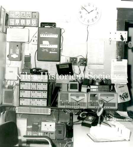 Command center of police station in 1974.