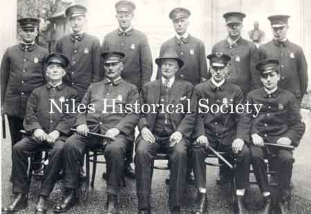1920 photograph of Niles Police Department.