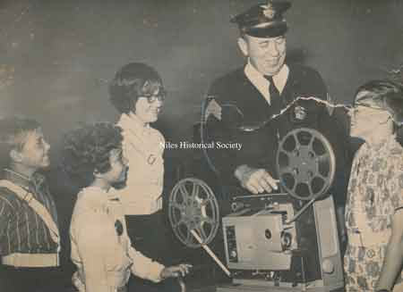 Officer John Scott working with the students on the School Safety forces. Photo 1968