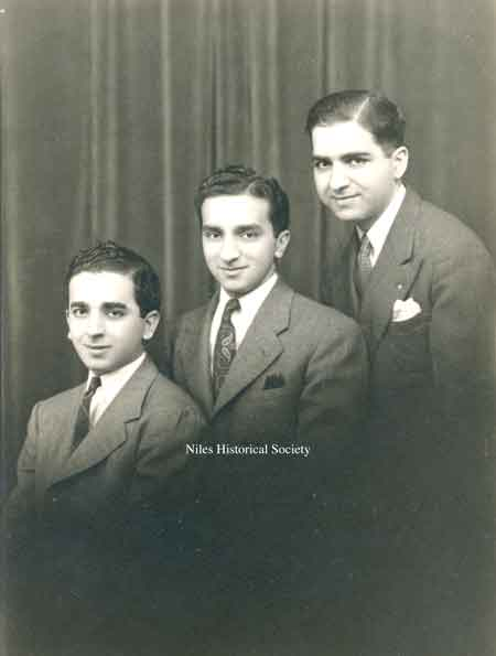 Three sons of my grandfather Isaac Shaker: Joseph, Mitchell and Simon.youngest to oldest.