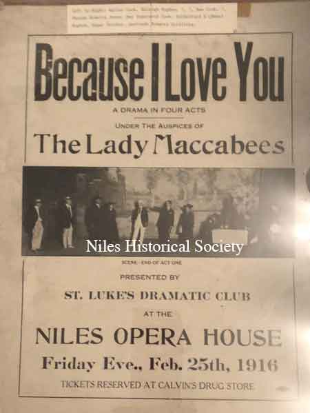 Playbill from the Opera House,