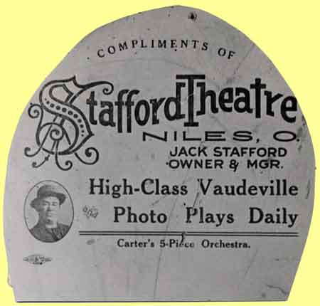 Stafford Theatre fan dating to 1911.
