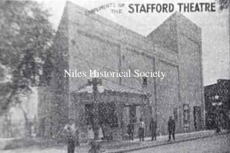 The Stafford Theatre was listed in the Burch Directory of 1912 at 125-133 Furnace Street (East State). The building location is north of East Park Avenue.